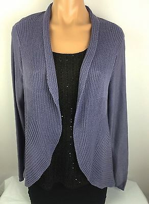 BRAND NEW! Chico's Aubrianna Cardigan Sweater  Plum Frost Lavender Size 3 *SALE*