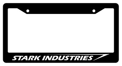 Black License Plate Frame STARK INDUSTRIES Auto Accessory Novelty 46