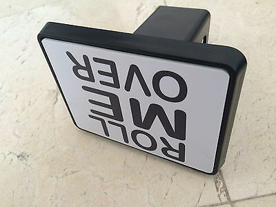 """Trailer Tow Hitch Cover Black for 2"""" Receiver Track Car SUV 5""""X4"""" Roll Me Over"""