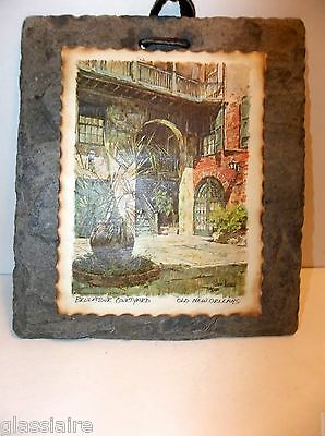 "Antique NEW ORLEANS SLATE Roof Tile BRULATOUR COURTYARD 5.25"" X 6"""