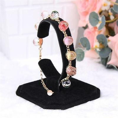 Black Velvet C Type Design Jewelry Bracelet Watch Display Rack Stand Holder