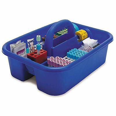Large Phlebotomy Tote Blue • With bin cups, tube racks, and red tube holder 1 ea