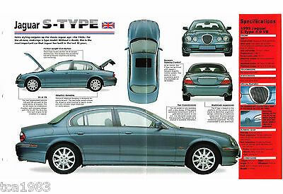 1998 / 1999 JAGUAR S-TYPE SPEC SHEET / Brochure / Prospekt / Photo's