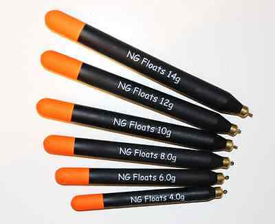 NG Floats Loaded Pellet Wagglers, Top Quality, Six Sizes