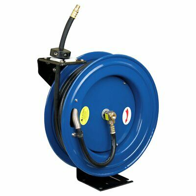 "Cyclone Pneumatic CP3688 3/8"" x 50' 300 PSI Retractable Air Compressor Hose Reel"