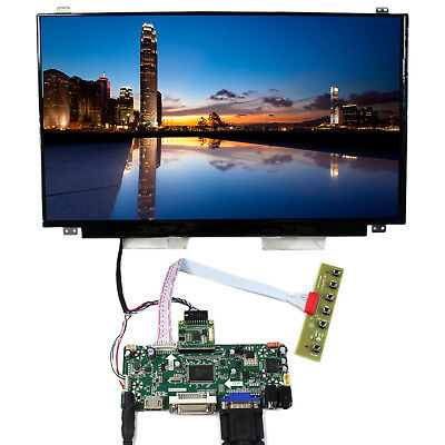 "HDMI VGA DVI Audio Controller board 15.6"" B156HAN01.2 1920x1080 IPS LCD Screen"
