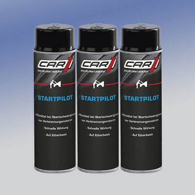 CAR1® CO3605 Startpilot 3 x 250 ml Starthilfespray Kaltstartspray Startspray