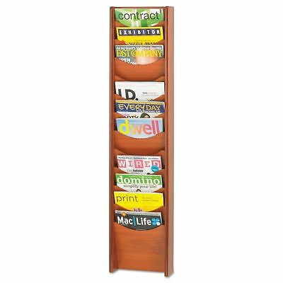 Safco Solid Wood Wall-Mount Literature Display Rack, 12 Pockets, - SAF4331CY