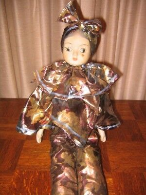 """1980's 16"""" Collectible Porcelain Doll Hand Painted"""