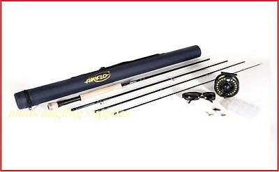 Airflo Complete Pike / Carp Fly Fishing Kit 8/9 Rod Reel Line & Tube