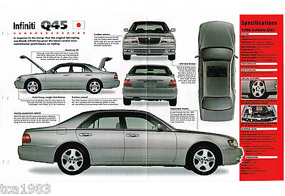 1997 / 1998 INFINITI Q45 / Q-45 SPEC SHEET / Brochure / Catalog, pictures