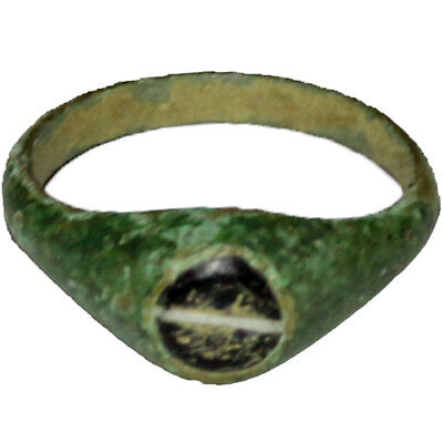 Museum Quality Roman Ae Ring With Nice Stone