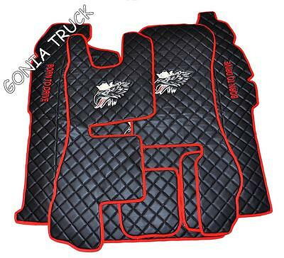 """Floor Mats And Eng.cover For Scania Streamline 2014 L.h.drive """" Eco Leather"""""""