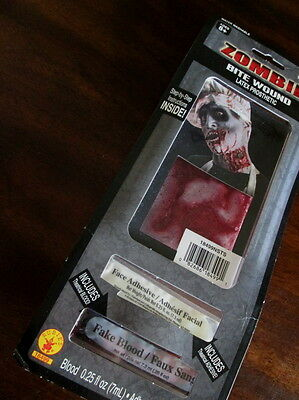 ZOMBIE BITE WOUND Latex Prosthetic BLOODY Gory NECK New HALLOWEEN Gore MONSTER