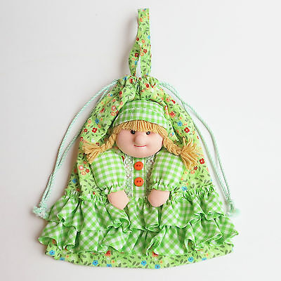 Cute Girl Soft Plush Doll Drawstring Multipurpose Storage Bag Pouch Sack Gift