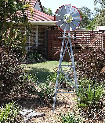 Garden Windmill 2400Mm 8Ft New Ornamental Outdoor Decorative Metal Replica