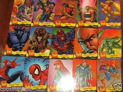 RARE OOP HUGE Fox Kids Fleer Trading 1995 Cards Lot Xmen Spiderman the Tick etc!