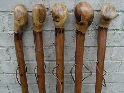 Chestnut Wood Walking Stick Cane Root Ball Knob Rustic Thick Walking Cane 46""
