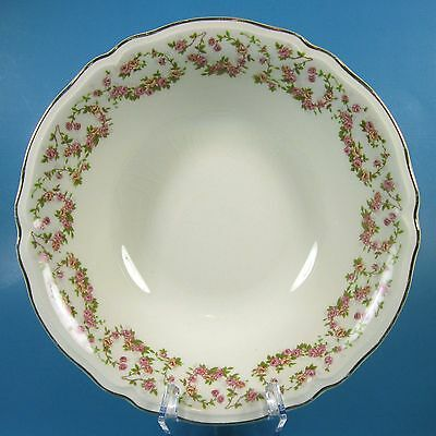 Edwin Knowles LORRAINE Round Vegetable Serving Bowl CRAZING Pink Floral