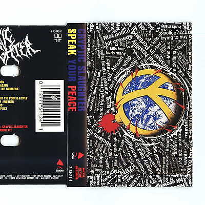 CRYPTIC SLAUGHTER Speak Your Peace (Cassette)