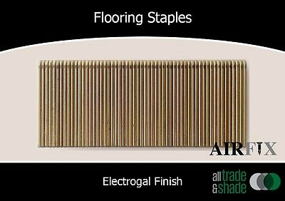 Flooring Staples - Electrogal - Size: 38mm x 12.7mm - Box: 1,000