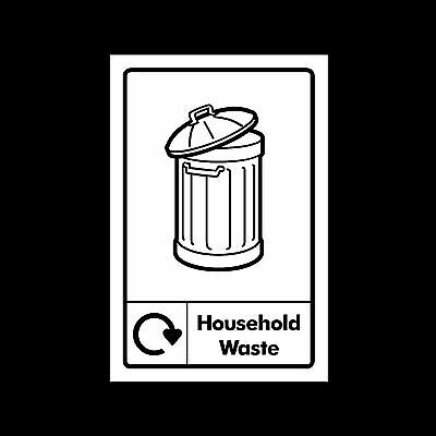 Household Waste Recycling - Plastic Sign or Sticker - All Sizes/Materials