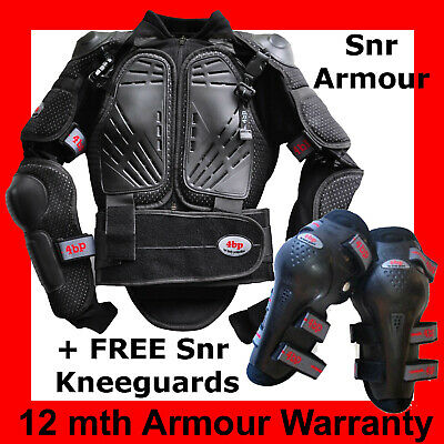 4BP MOTOCROSS BODY ARMOUR SENIOR/ADULT (+ Free Knee Guards) Sizes to M - 5XL