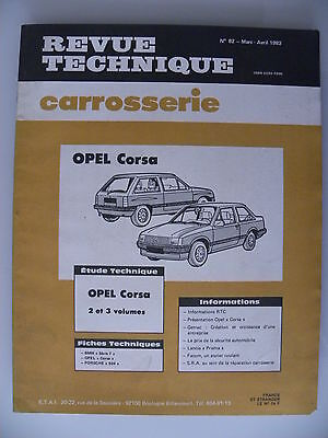 revue technique automobile carrosserie RTA OPEL Corsa 2 et 3 volumes