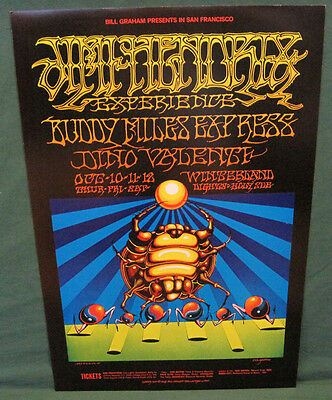 BG 140 Bill Graham Poster JIMI HENDRIX Winterland San Francisco 1968