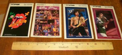 Vintage Rolling Stones Lot (4) Mini Posters Mint!!!!!!