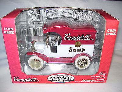 Campbell's Soup 1912 Ford Model T Delivery Car Coin Bank MIB Heavy Die-Cast 1997