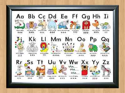 Silly Alphabet Poster Learn My ABC Chart Fun Children Educational A4 Photo Print