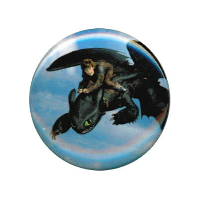 How To Train Your Dragon 2 Hiccup and Toothless Flying 1 Inch Button
