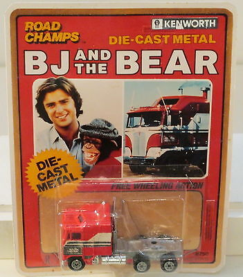 DTE RARE ROAD CHAMPS B J AND THE BEAR KENWORTH CAB PREPRO ON MOCK UP PACKAGING