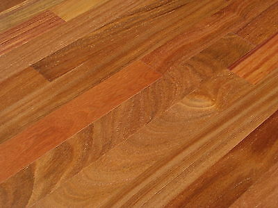 "3"" Prefinished Solid Brazilian Teak Cumaru Dark Hardwood Floor Flooring Sample"