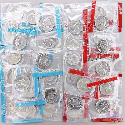 1969 D S Jefferson Nickel Mint Cello Roll 40 US Coin Lot
