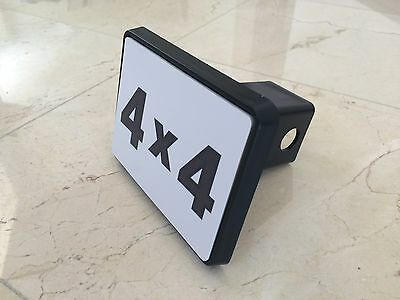 """Trailer Tow Hitch Cover Black for 2"""" Receiver Track Car SUV 5""""X4"""" 4X4 New"""
