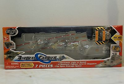 Aircraft Carrier 18 inch with fighter jets & choppers Light & Sound New in box