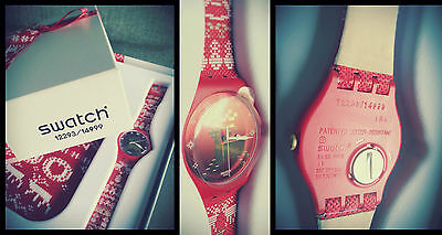 Swatch Red Knit SUOZ172S limited edition!!!