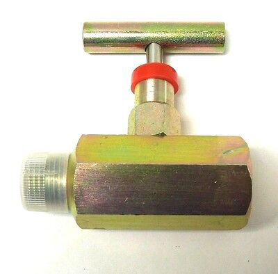 "Needle Valve 1/2"" Fnpt X Mnpt 10,000 Psi Steel Nace T-Bar Handle New    <375In03"