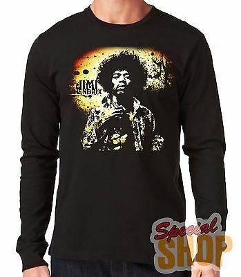 "Camiseta Manga Larga""jimi Hendrix""long Sleeve"