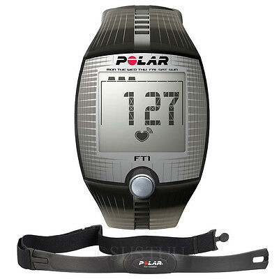 Black Polar FT1 Heart Rate Monitor Sports Health Body Watch with Chest Strap