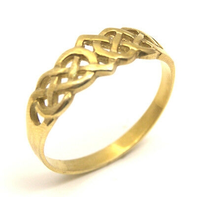 Celtic Knot Ring Solid Hand Crafted 9ct Gold UK Hallmarked