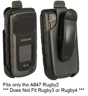 Holster with Swivel Belt Clip for AT&T Samsung Rugby2 A847 (Black) FXRUGIIR