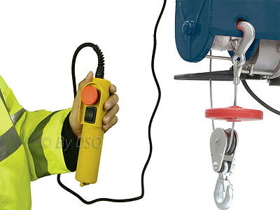 Silverline 250kg Electric Winch Hoist Scaffold Mounted for Workshop Garage Shop
