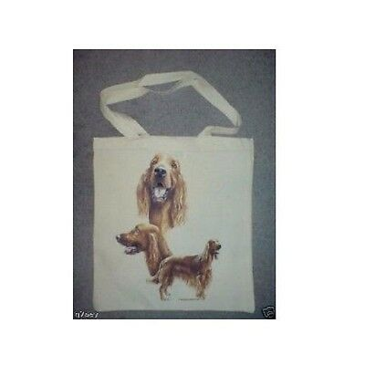 Irish Setter Design Printed On A Tote Shopping Bag