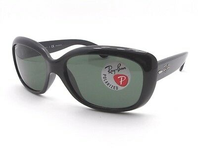 Ray Ban 4101 Jackie Ohh 601/58 58mm Black Polarized New Authentic Sunglasses