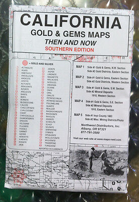 Southern California Gold & Gems Maps Then and Now LOCATE Minerals Fossils