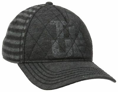 4dc6f20c464 TRUE RELIGION JEANS Heathered Flannel Baseball Cap Hat Black TR1803 ...