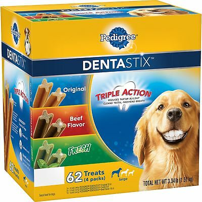 Pedigree Dentastix Dog Treats Snacks Variety Pack - 62 ct Daily Oral Care
